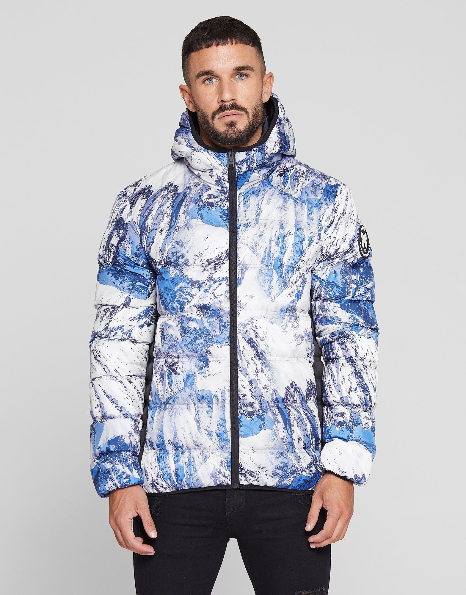 Good For Nothing All Over Print Bubble Jacket