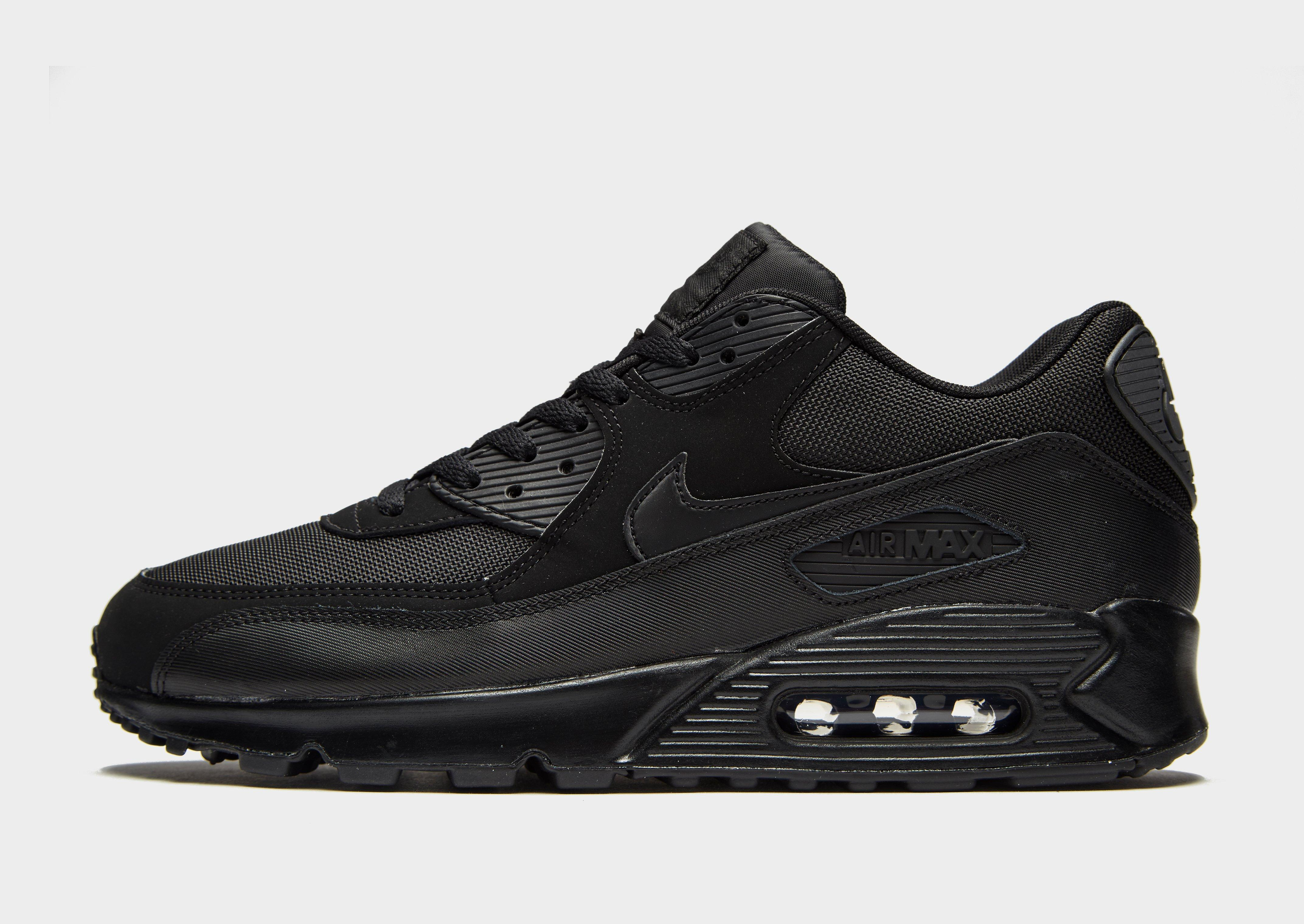 black leather nike air max 90
