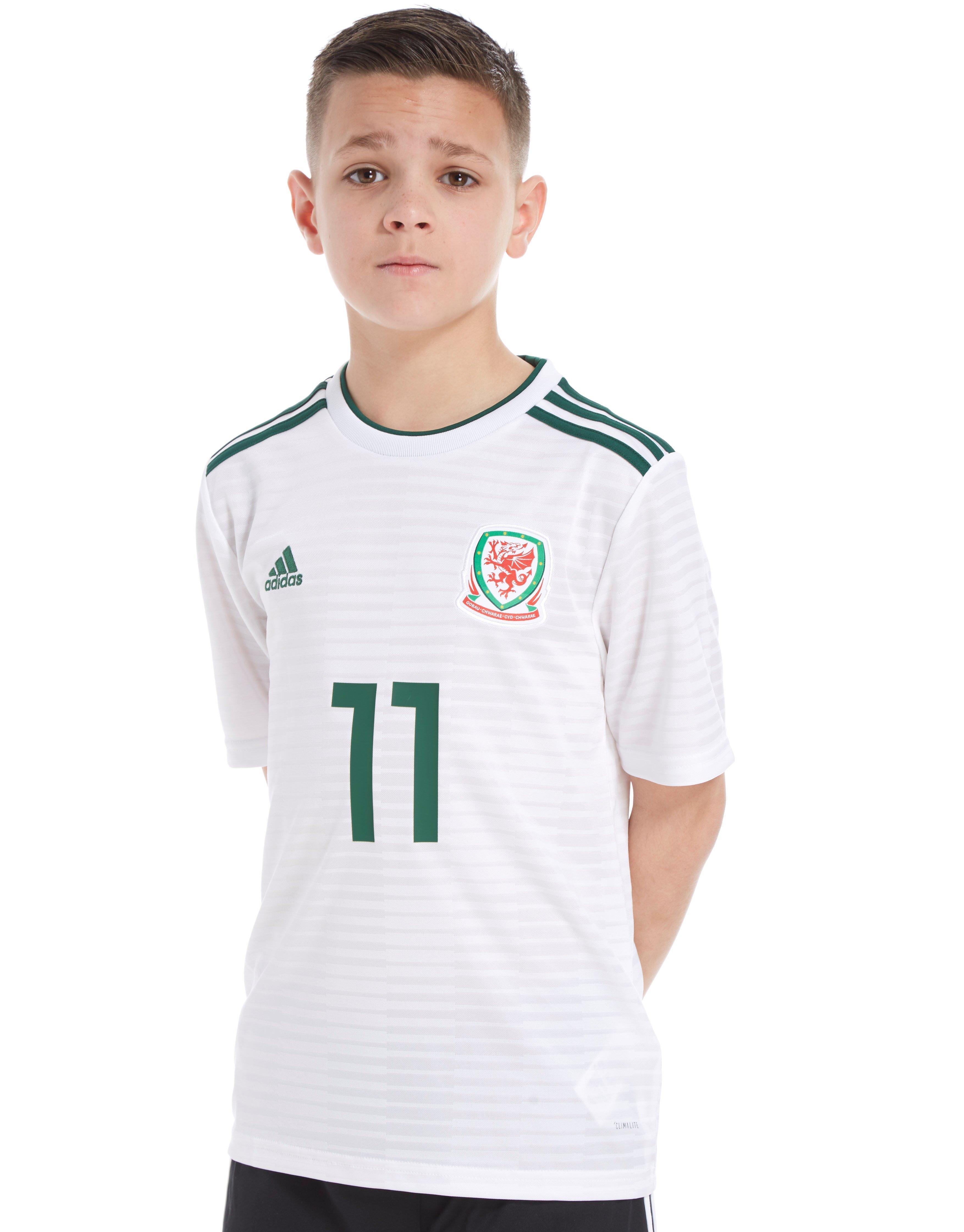 adidas Wales 2018 Away Bale #11 Shirt Junior