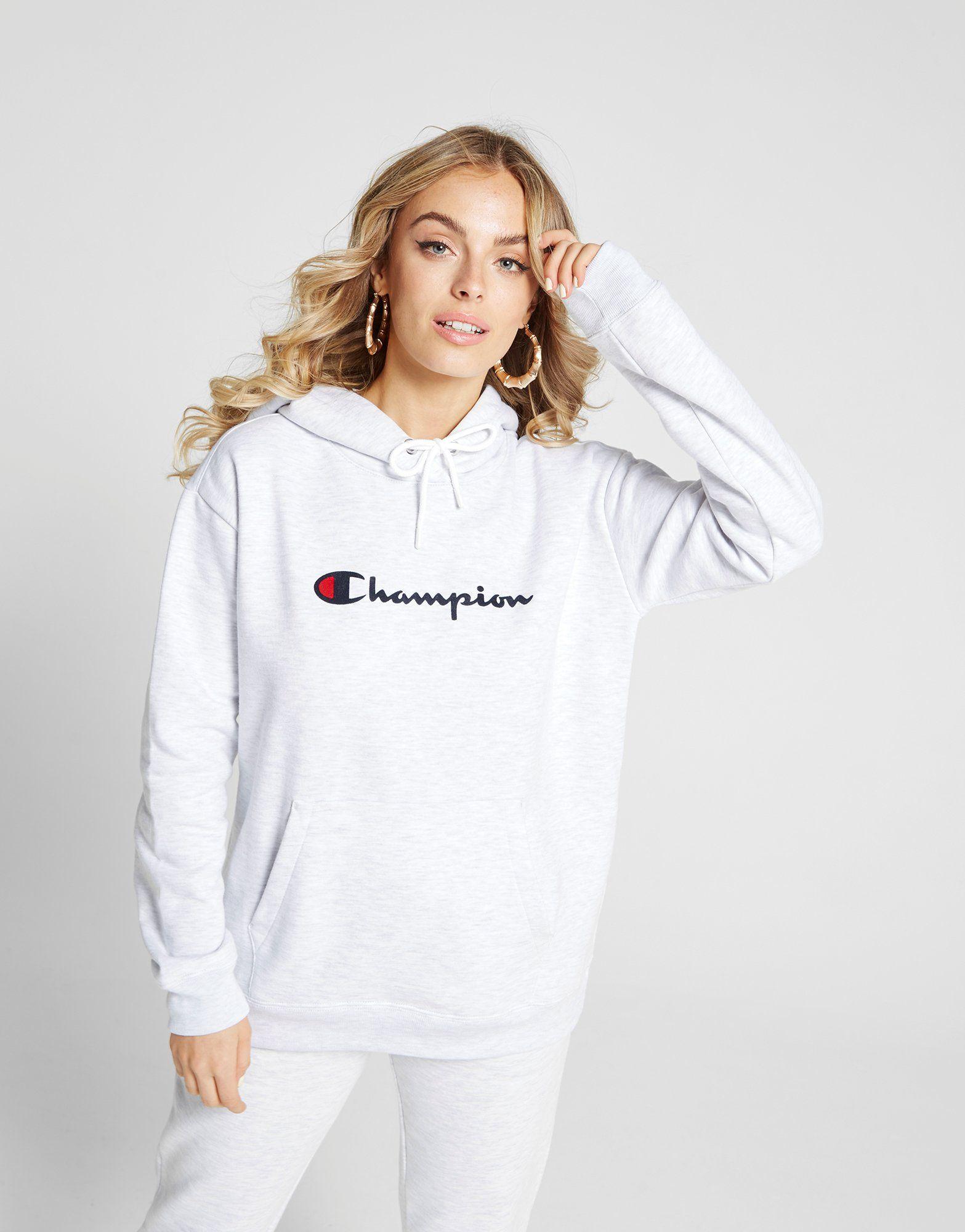 Champion Script Logo Boyfriend Hoodie Dames