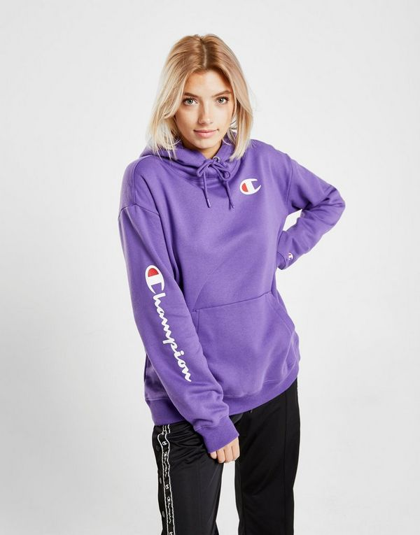 Champion Script Sleeve Boyfriend Hoodie   JD Sports 57c15e3718fb