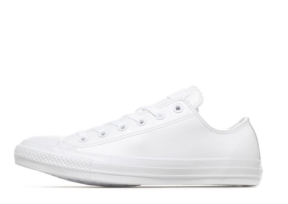 Converse All Star Ox Leather Mono - Men's Canvas and Plimsolls - White 087768