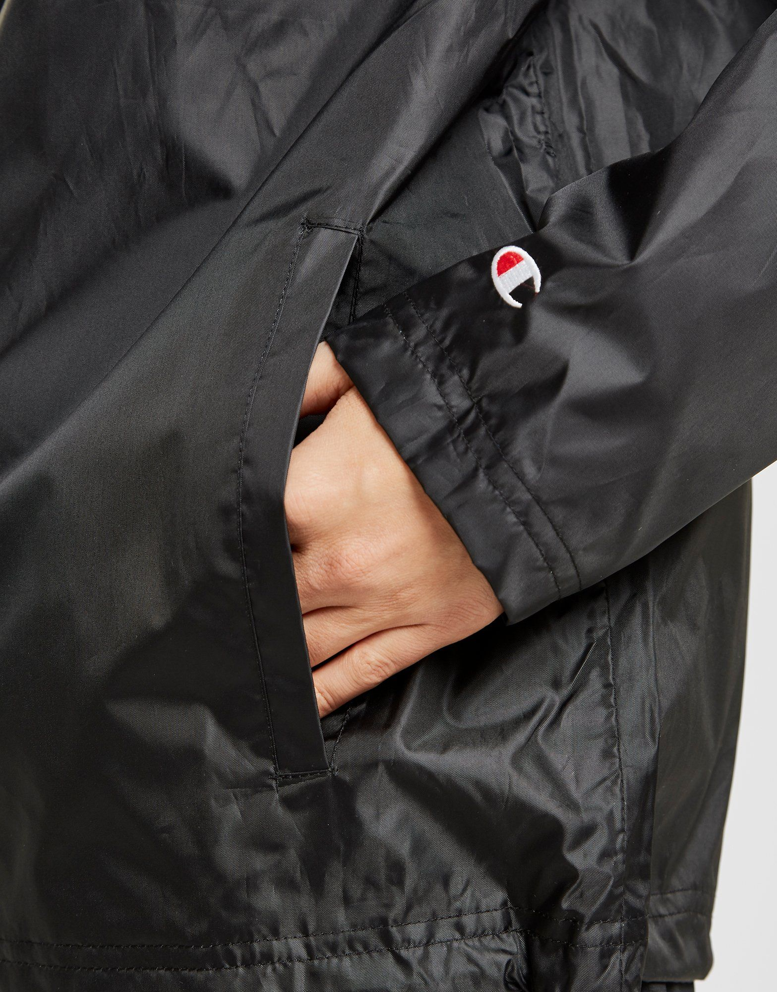 Champion Script Sleeve 1/4 Zip Jacket
