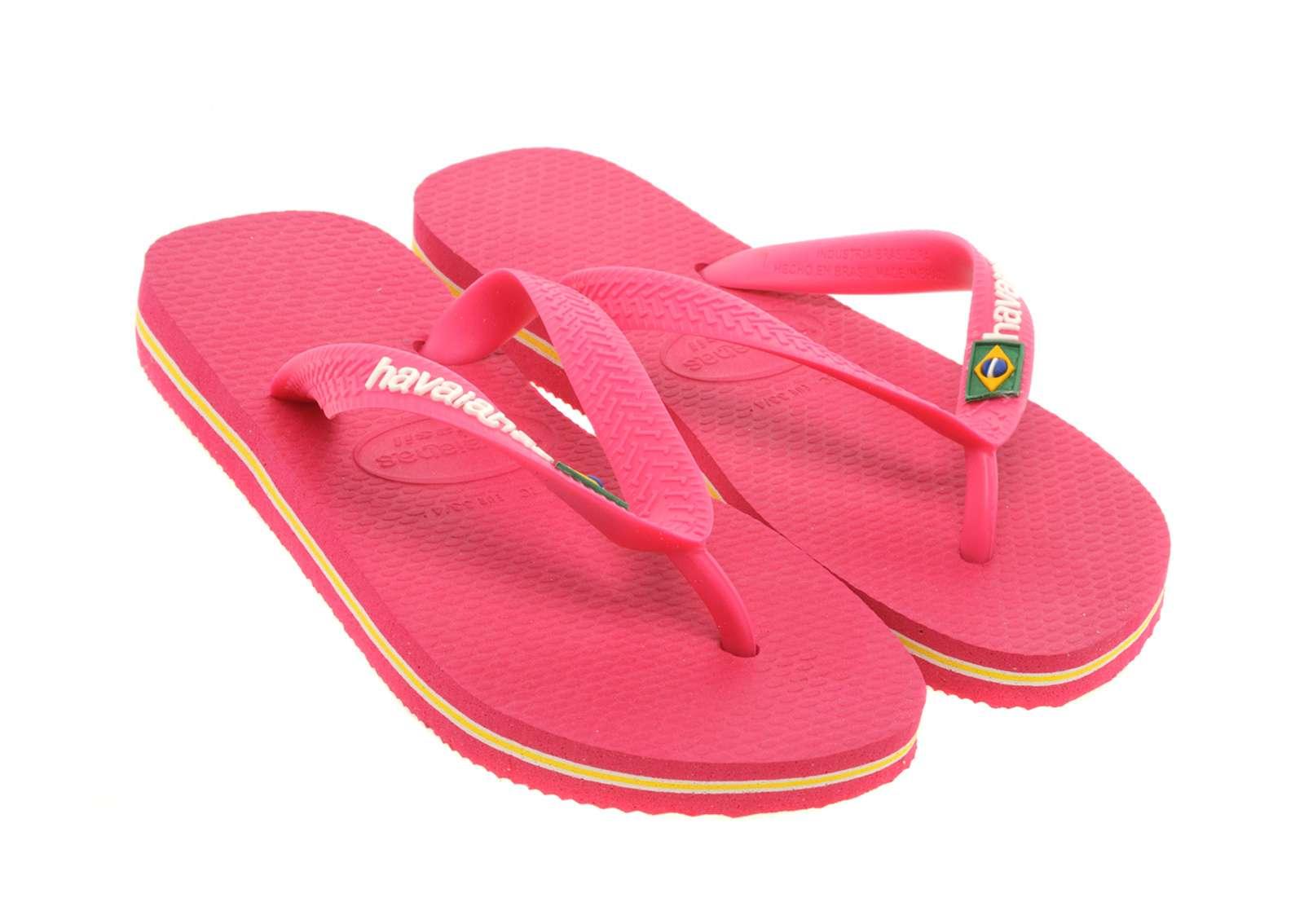 Havaianas Brazil Logo Flip Flops Childrens