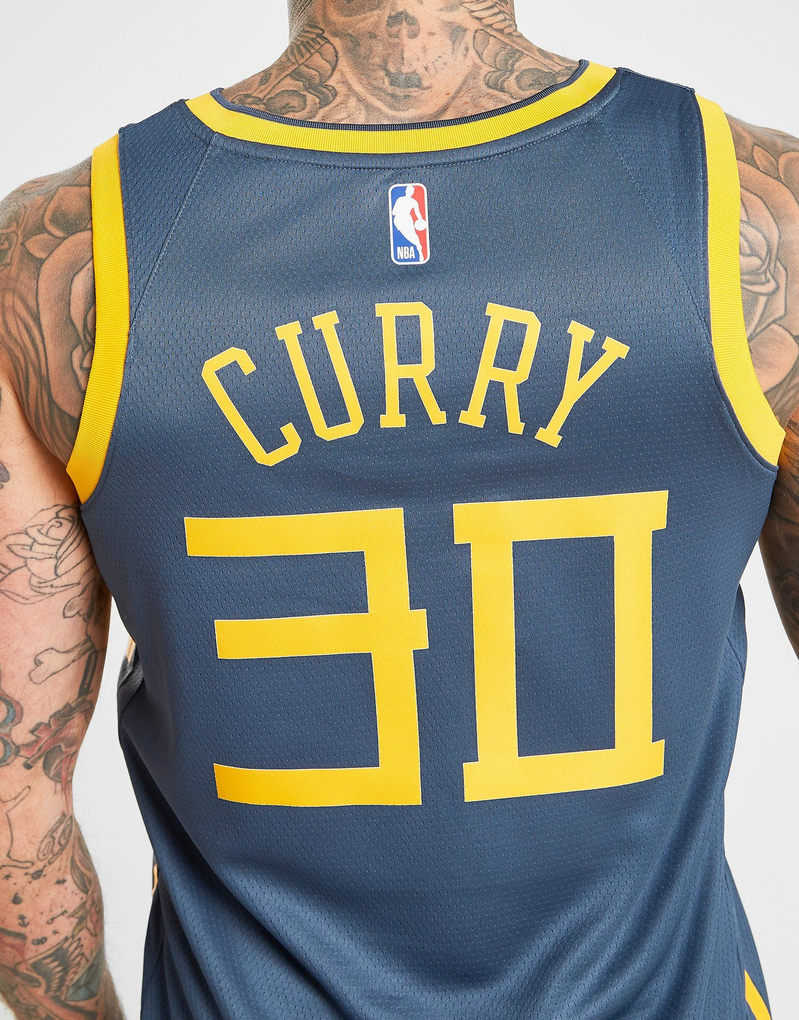 NIKE Stephen Curry City Edition Swingman (Golden State Warriors) Men's Nike NBA Connected Jersey