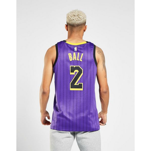 26f4439e5 ... NIKE Lonzo Ball City Edition Swingman (Los Angeles Lakers) Men s Nike  NBA Connected Jersey ...