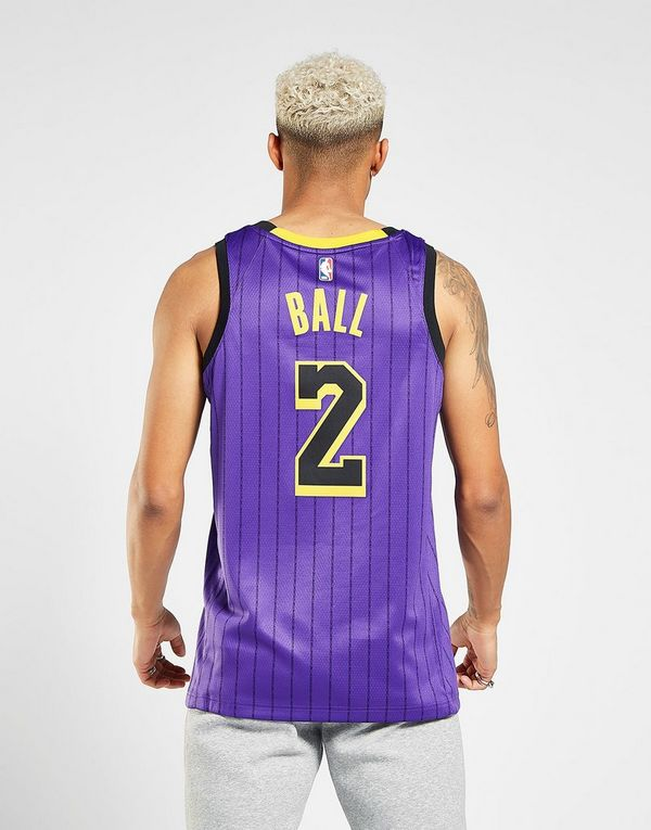 NIKE Lonzo Ball City Edition Swingman (Los Angeles Lakers) Men s Nike NBA  Connected Jersey 49afcc173