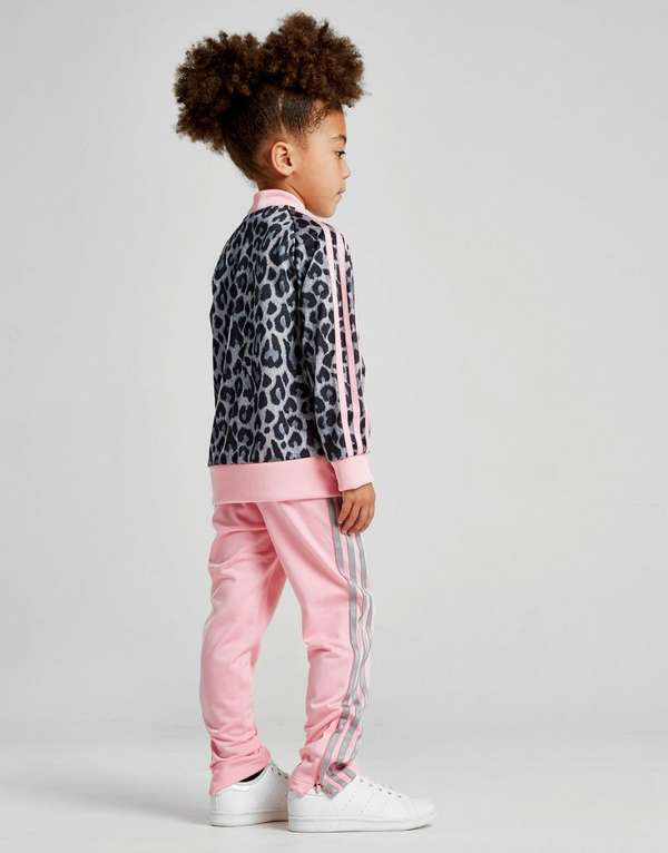 d59ae36324c4 adidas Originals Girls  Leopard Superstar Tracksuit Children