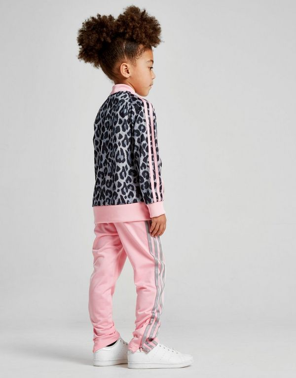 ed8bb954c adidas Originals Girls  Leopard Superstar Tracksuit Children