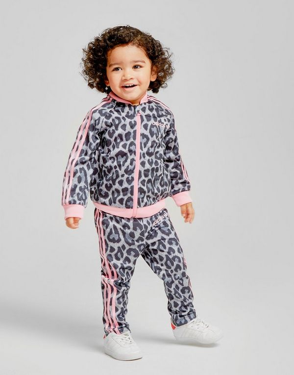 267c3e065 adidas Originals Girls  Leopard Superstar Tracksuit Infant