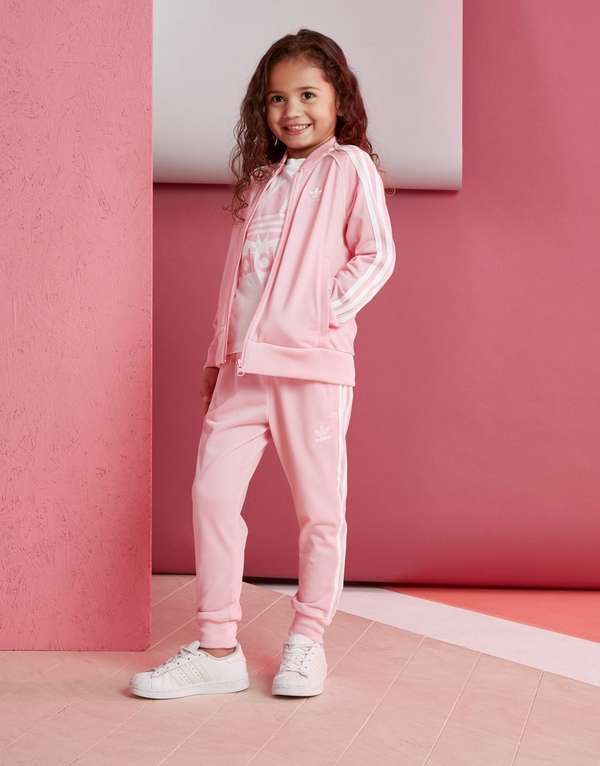 58216925ee1a adidas Originals Girls  Superstar Tracksuit Children