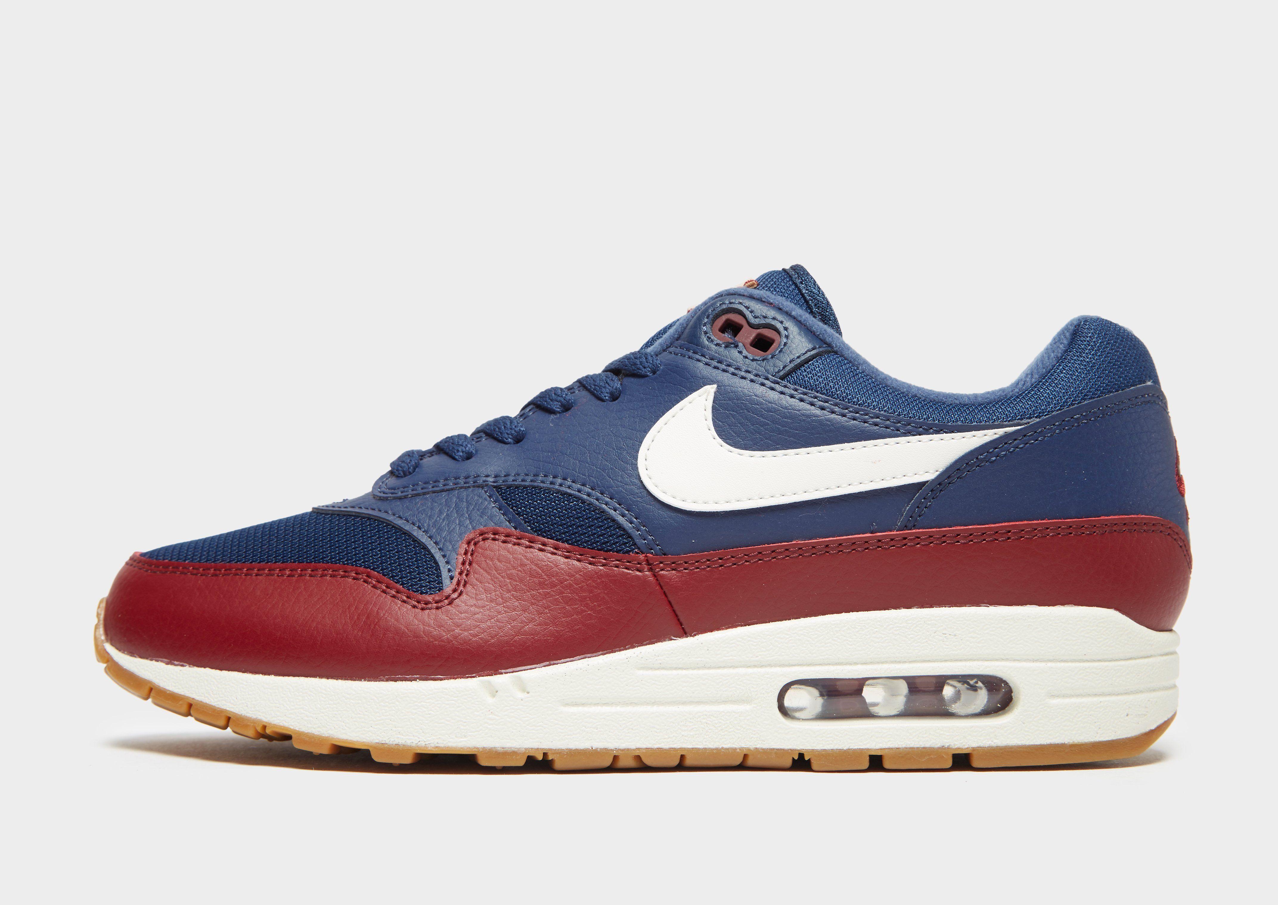 new style nike air max 1 essential blau and rot b030b a3020