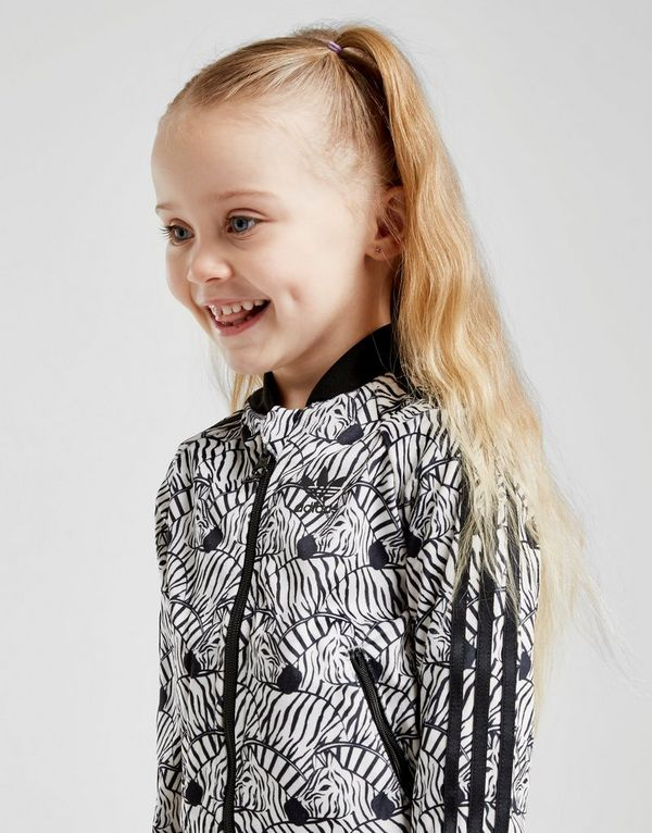 925dbb0dd006 adidas Originals Girls  Zebra Superstar Tracksuit Infant