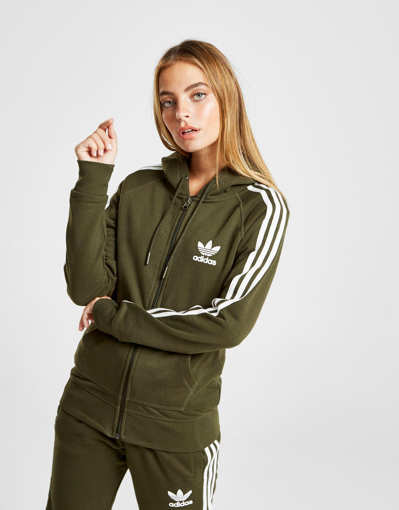 Details about New adidas Originals 3-Stripes California Full Zip Hoodie