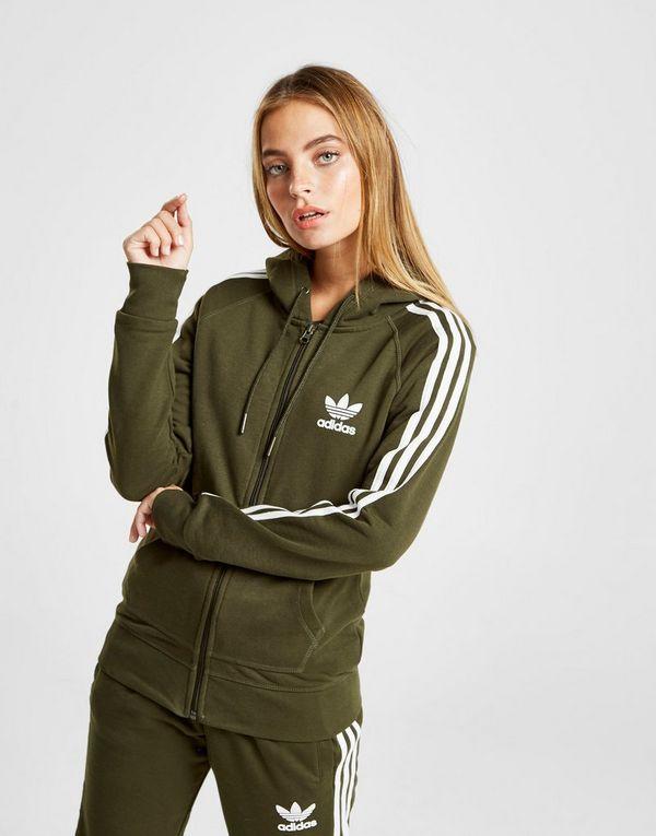 Femme À Capuche Originals California 3 Veste Zippée Adidas Stripes AaBq8P8