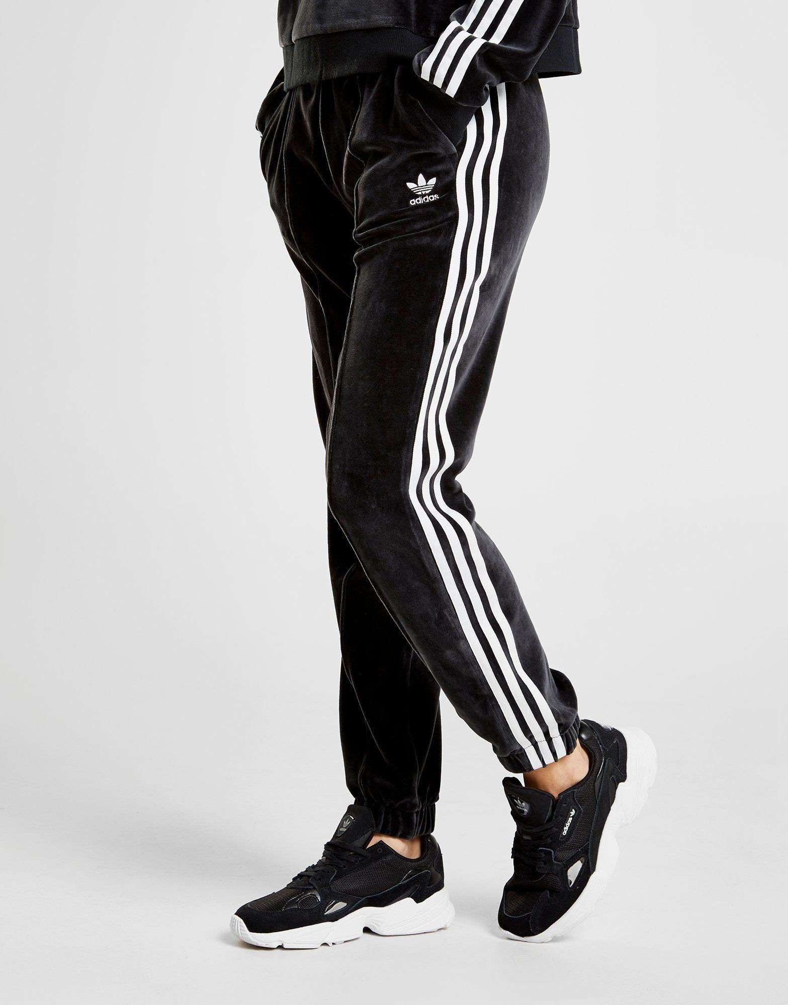 adidas Originals Pantalon de survêtement en velours 3-stripes Femme