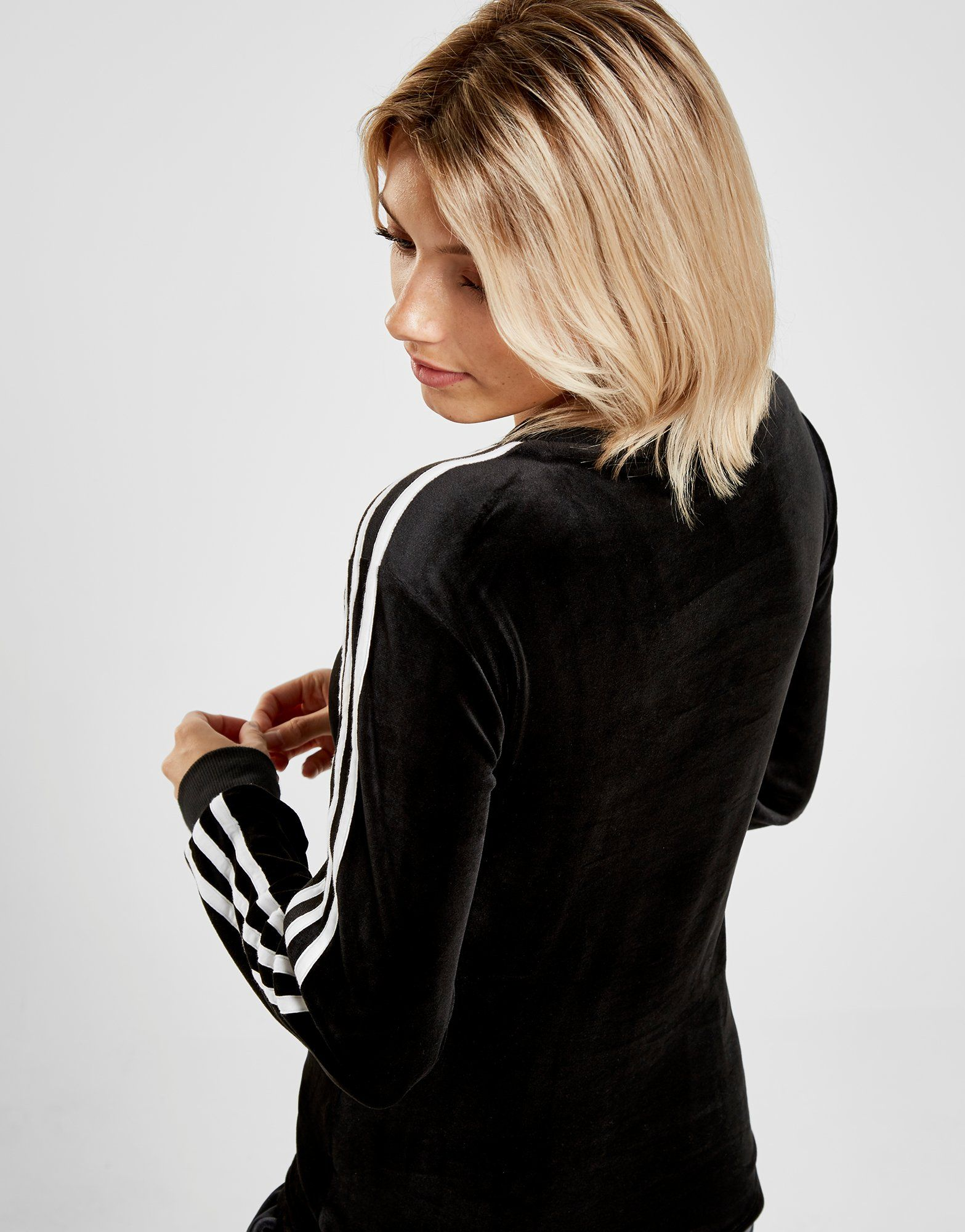 adidas Originals 3-Stripes Velvet Long Sleeve California T-Shirt Dames