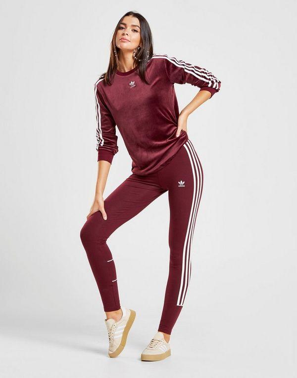 3cd0ff9a8d8d6 adidas Originals T-shirt Velours Manches Longues Femme   JD Sports
