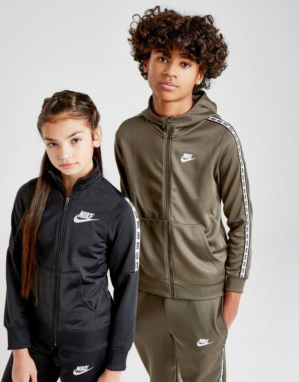 b07a713b2f1ed ... Nike Girls  Poly Tape Tracksuit Junior ...