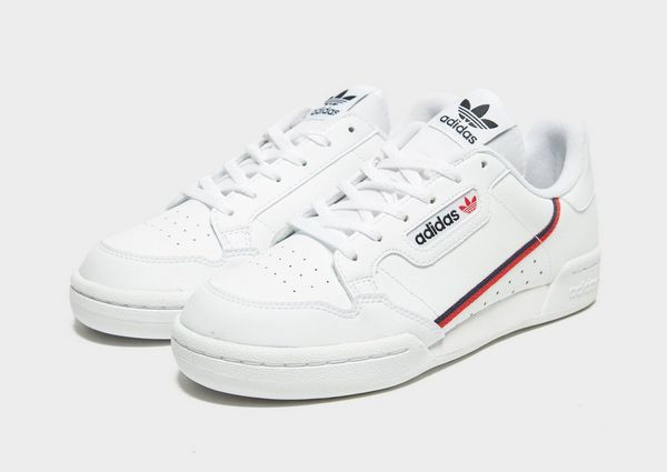 adidas originals continental 80 junior all white
