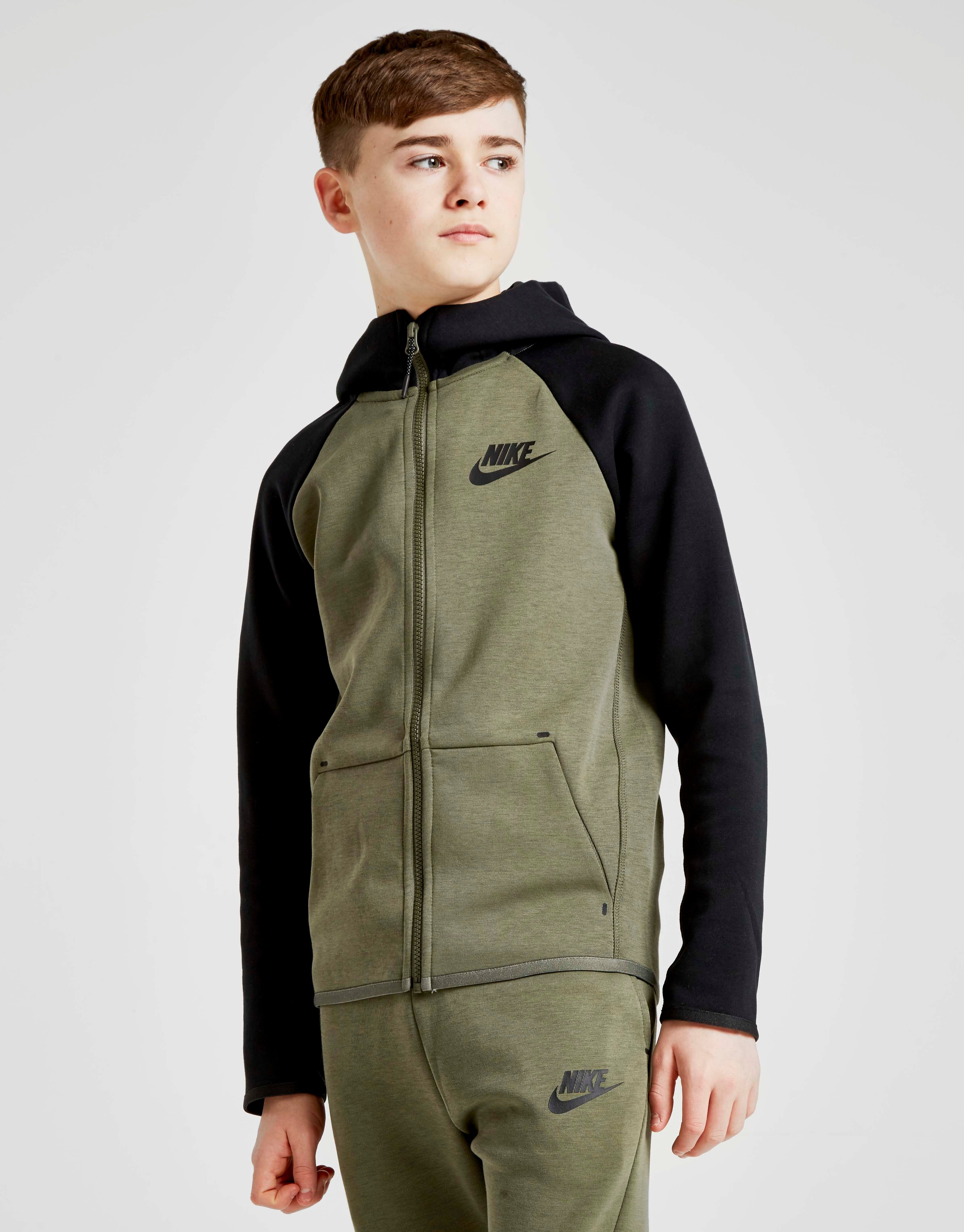 a13ac1632f1c Nike Tech Essential Colour Block Full Zip Hoodie Junior