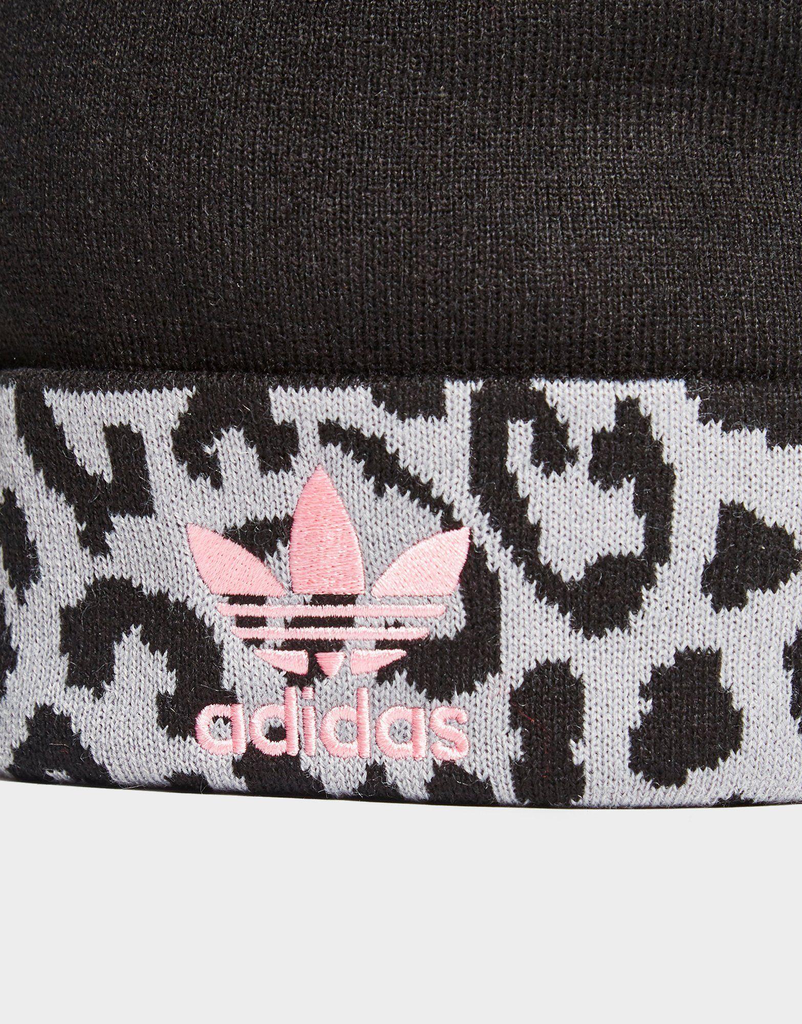 adidas Originals Pom Leopard Beanie
