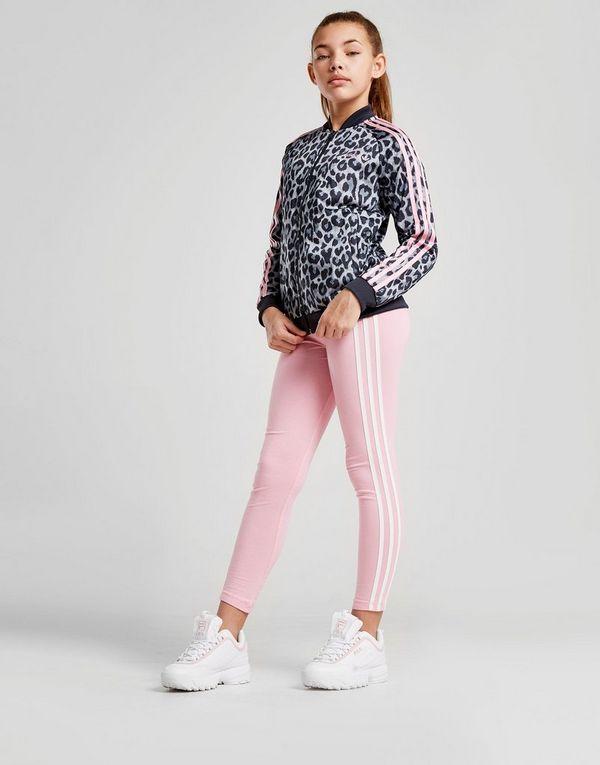 adidas Originals Girls  Leopard Superstar Track Top Junior  e4ab8e5f94ed