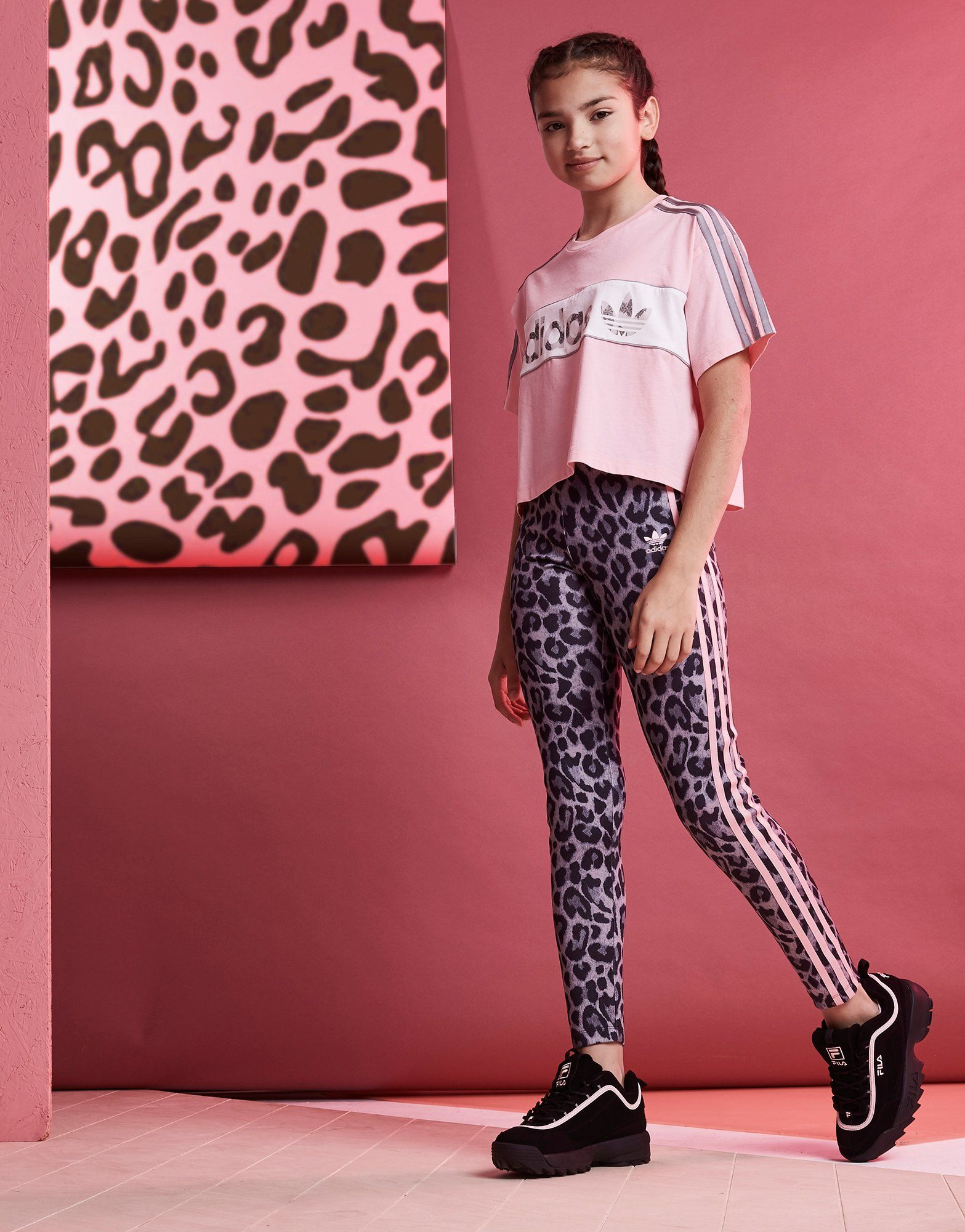 adidas Originals Legging Girls' Leopard All Over Print Junior