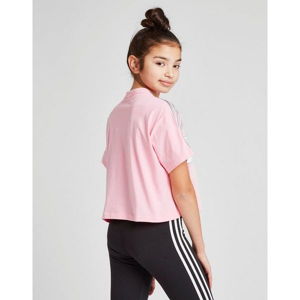 adidas Originals Girls  Crop Linear T-Shirt Junior   JD Sports b2bd6a4639