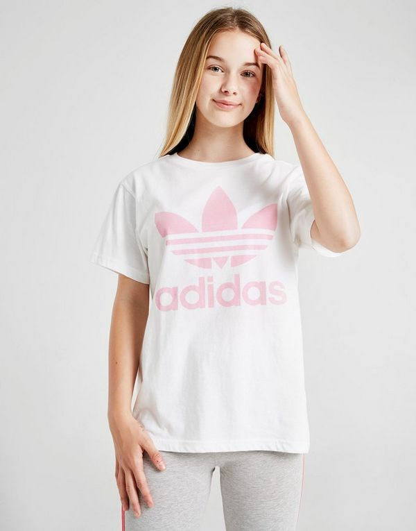 441ea2daaffb adidas Originals Girls  Trefoil Boyfriend T-Shirt Junior