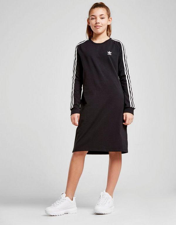 best service 0d642 a6adb adidas Originals Girls  Trefoil 3-Stripes Dress Junior