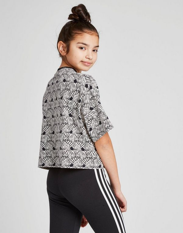 Camiseta Over Crop Zebra Originals Adidas Girls' Júnior All Print Hvq5wFz