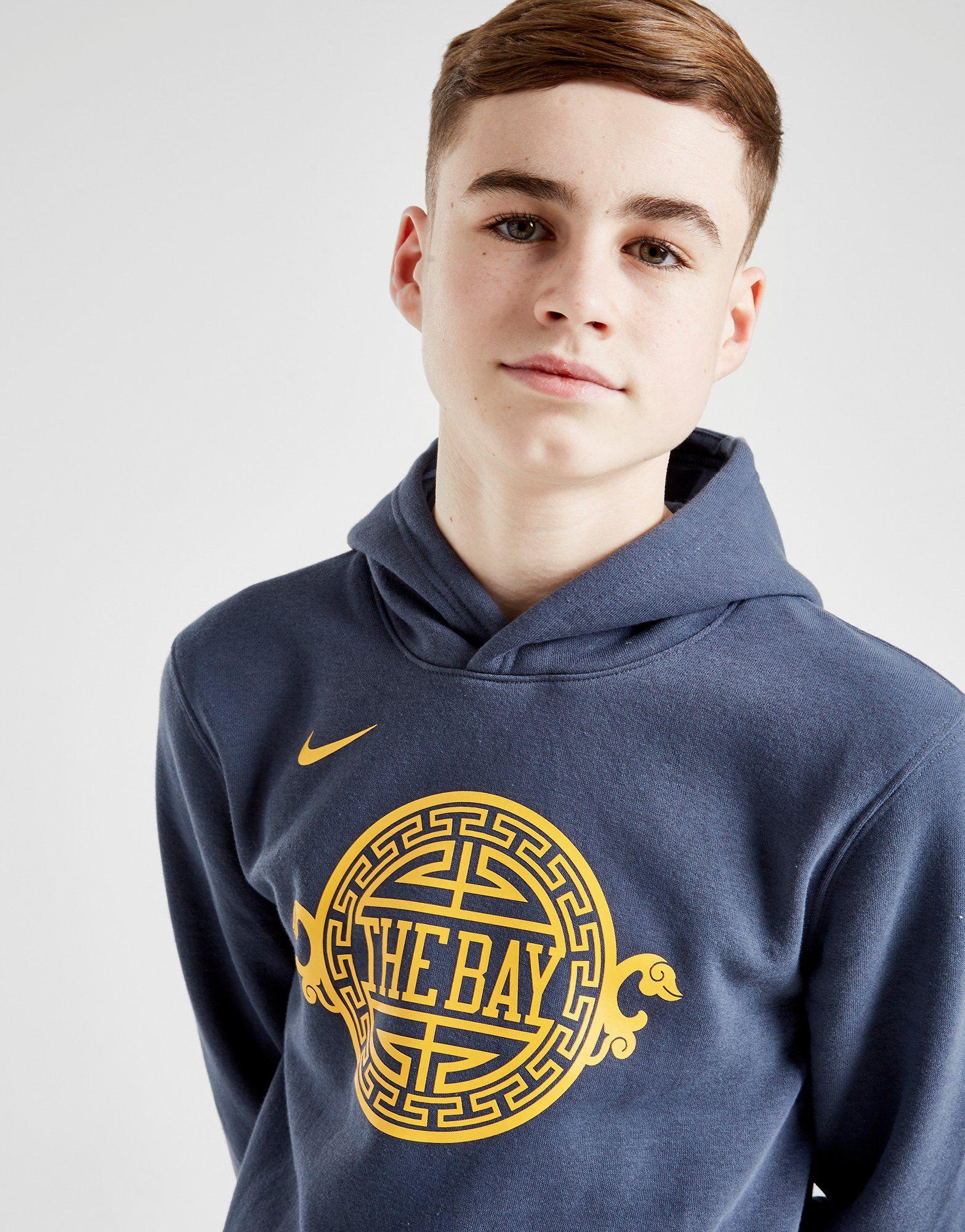 Nike NBA Golden State Warriors Overhead Hoodie Junior