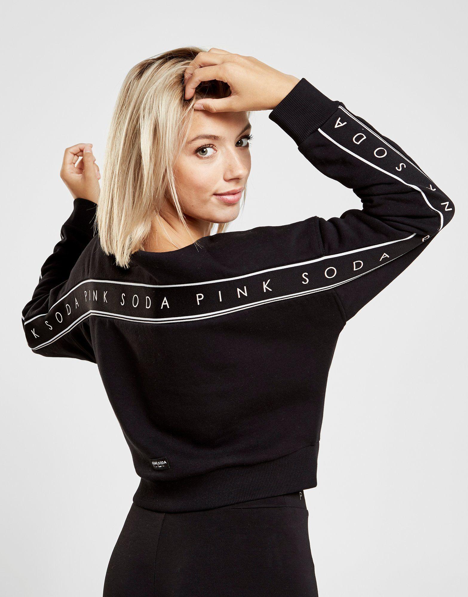 Pink Soda Sport Chunky Tape Crew Sweatshirt