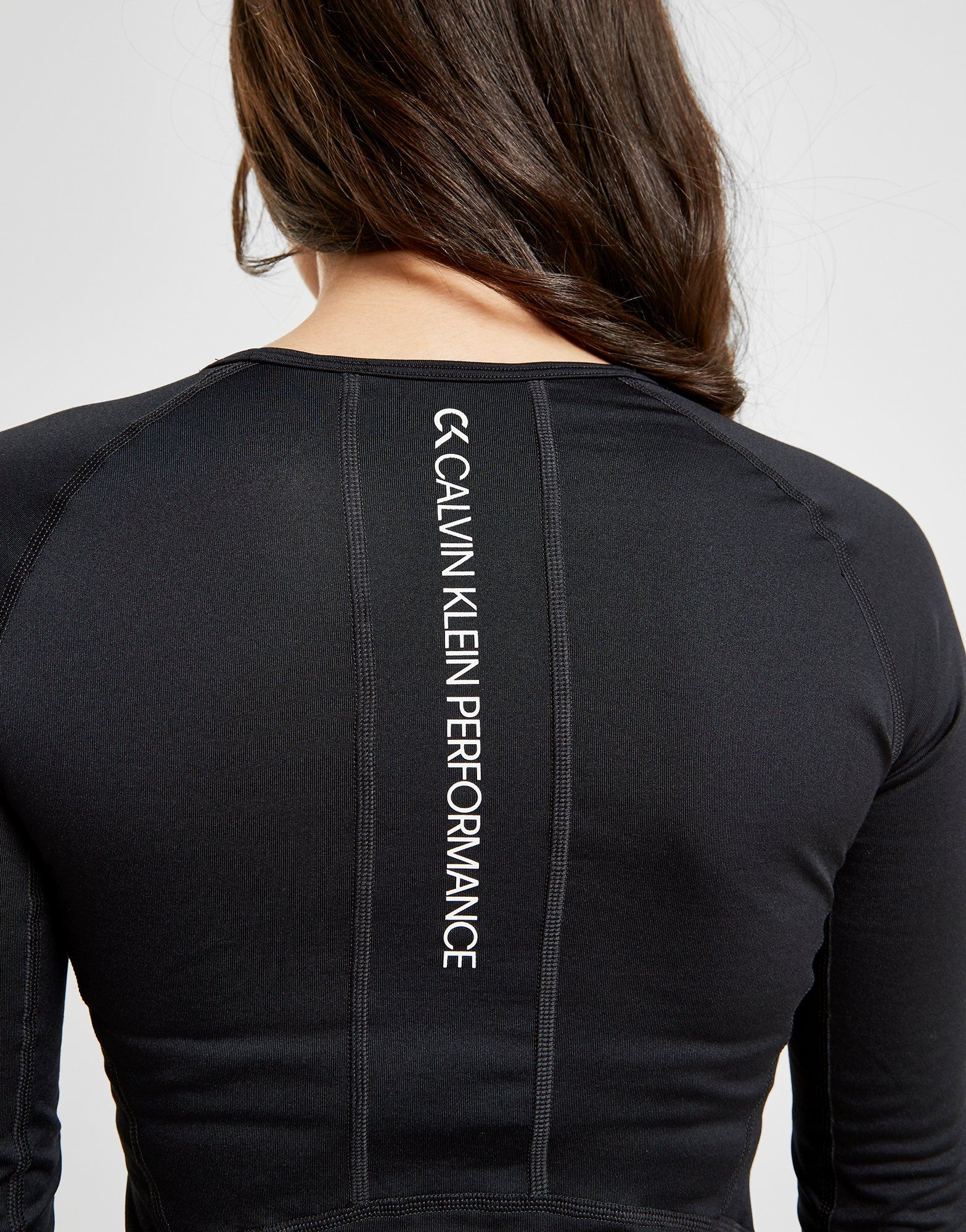 Calvin Klein Performance Core Long Sleeve Reflective Logo Top