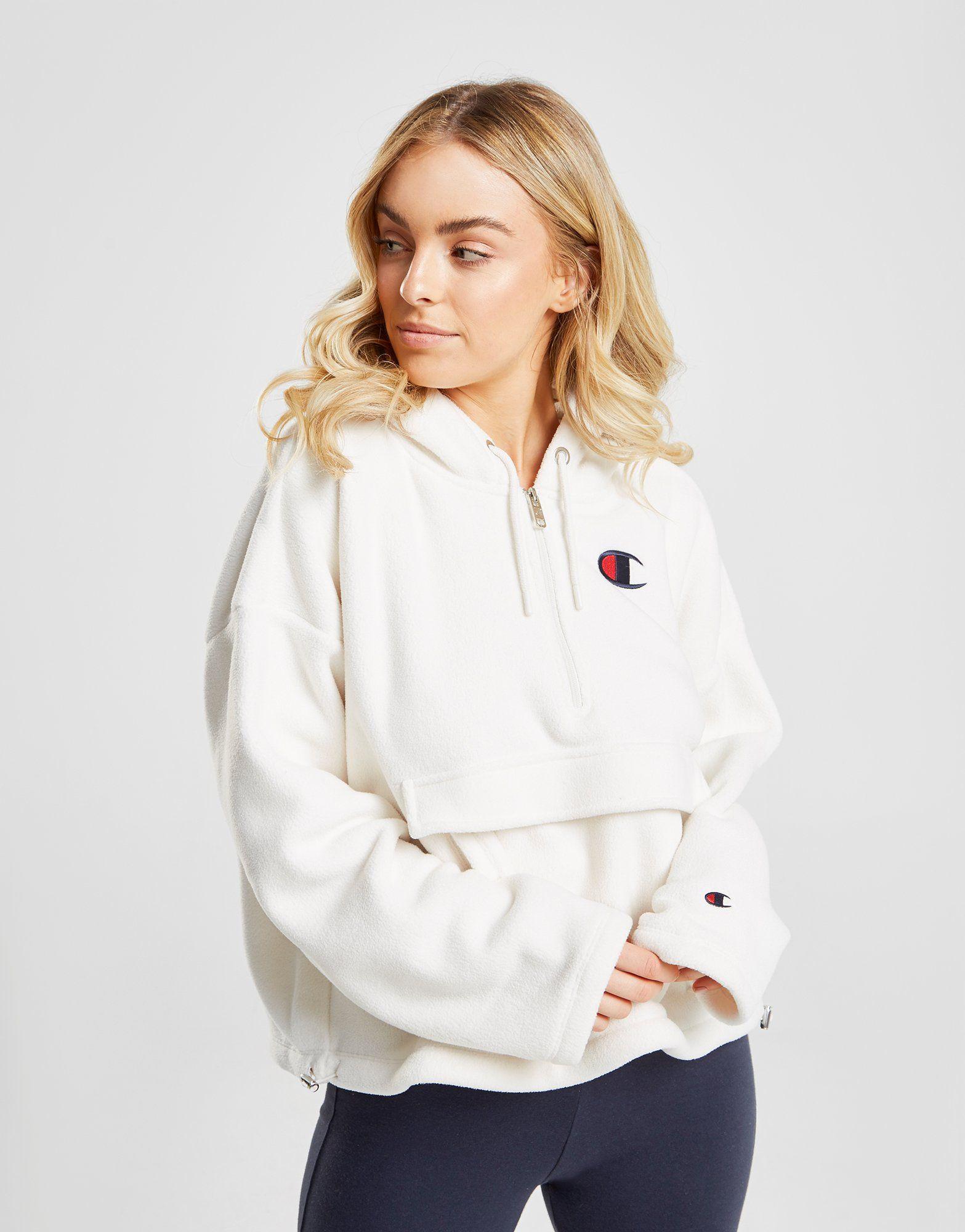 Champion Polar Fleece 1/4 Zip Hoodie Dames