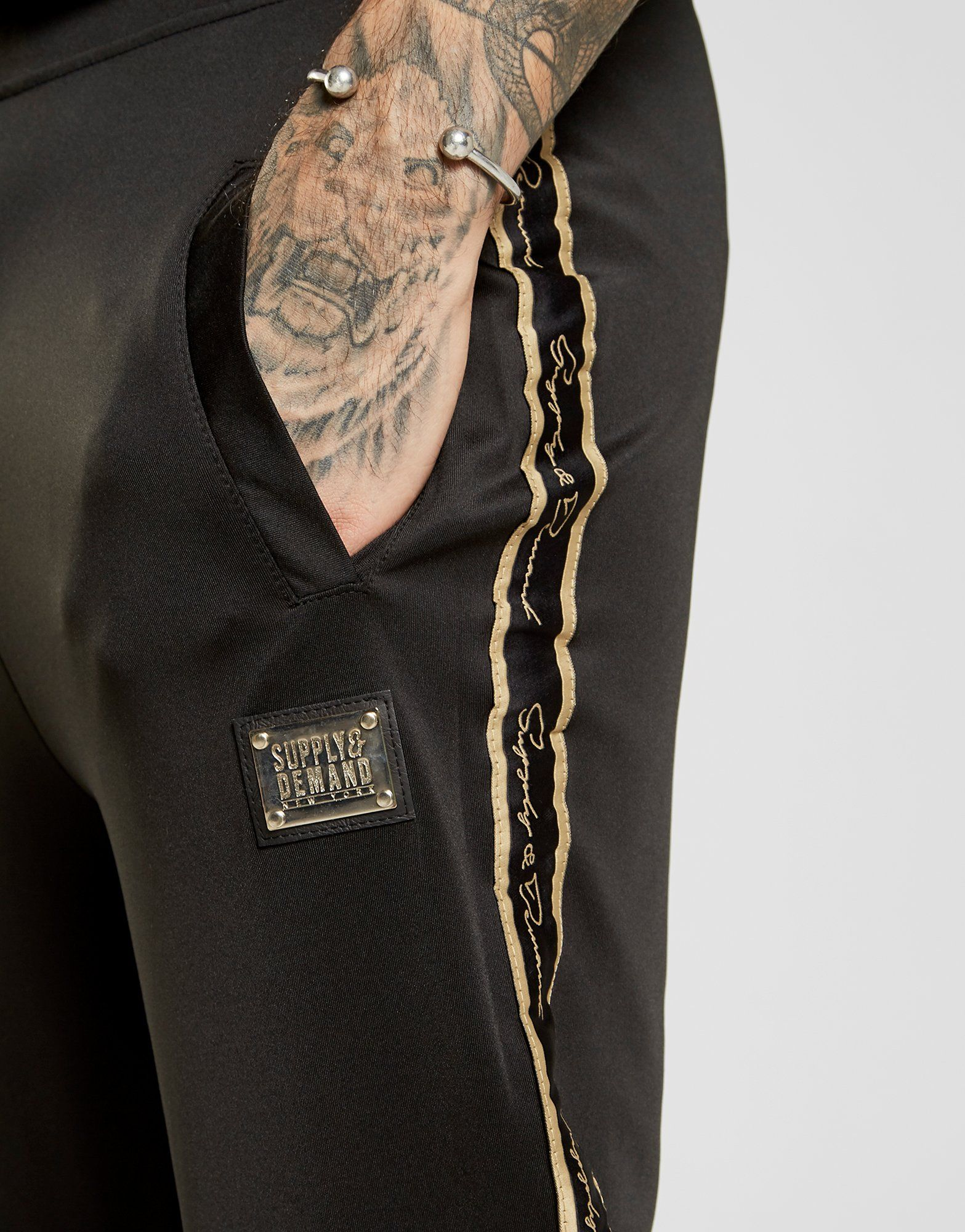 Supply & Demand Gold Tape Joggers
