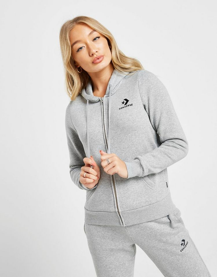 Converse Star Chevron Full Zip Hoodie Dames