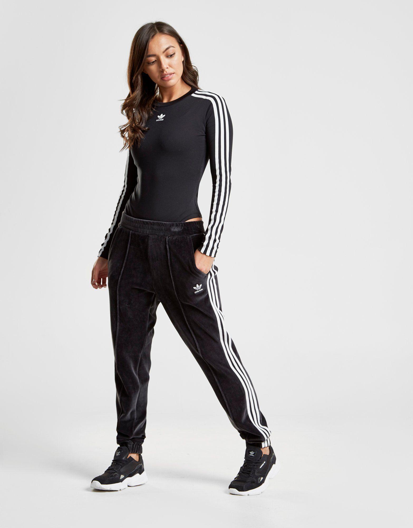 Adidas Originals 3 Stripes Long Sleeve Bodysuit Jd Sports