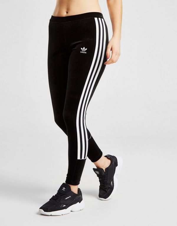 newest 5f8a9 9db27 adidas Originals 3-Stripes Velvet Leggings