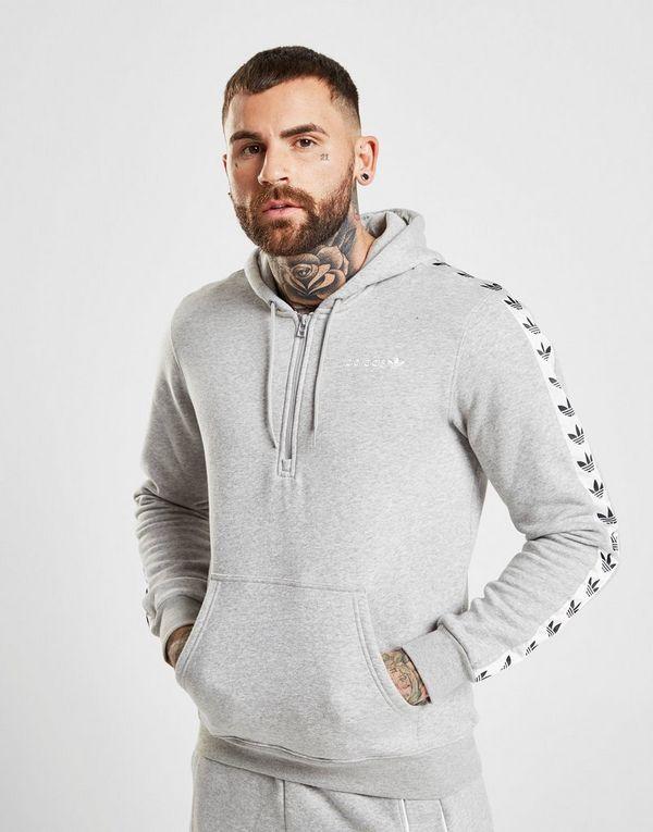 ef6fa257a2a5 adidas Originals Tape Fleece 1 2 Zip Hoodie   JD Sports