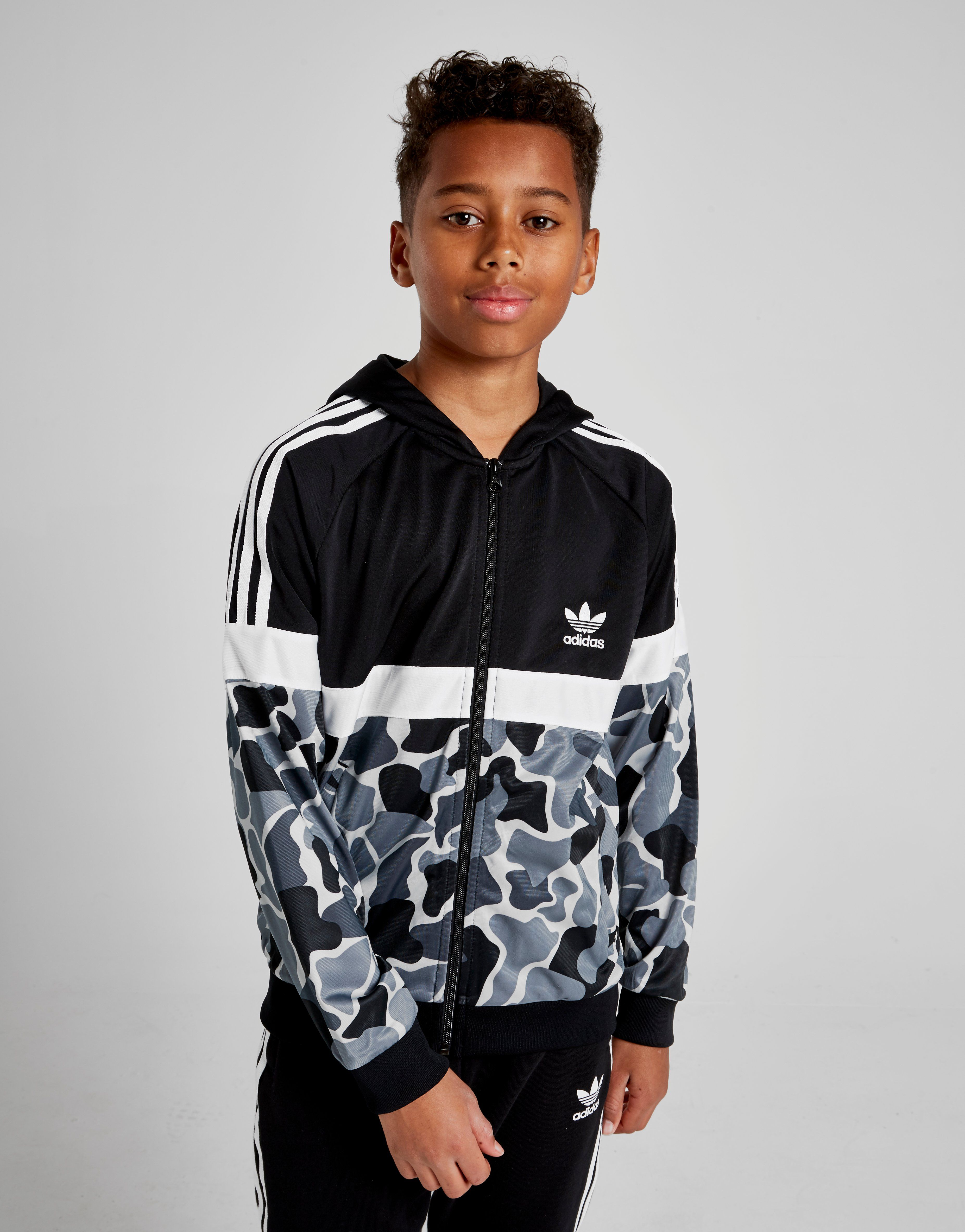 4dc9e448074b adidas Originals Itasca Camo Poly Full Zip Hoodie Junior