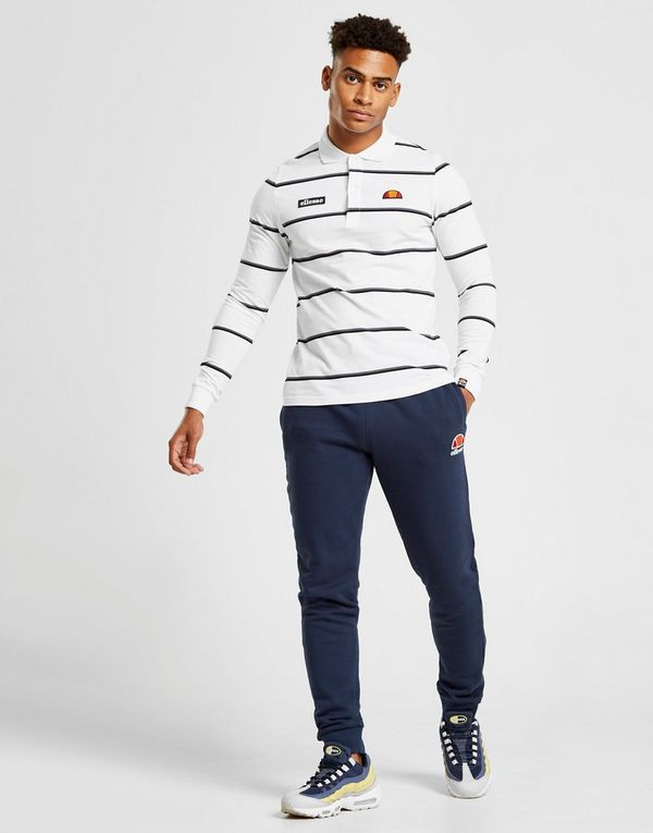 À Jd Longues Ellesse Maffio Polo Homme Sports Manches Stripe Rwzw1Cqxan