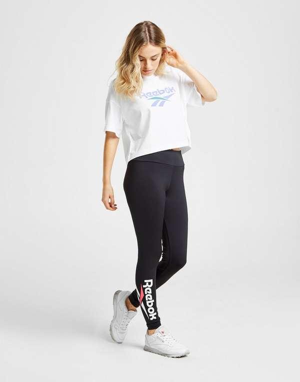 98f1dd3e9e8563 Reebok Vector Crop T-Shirt