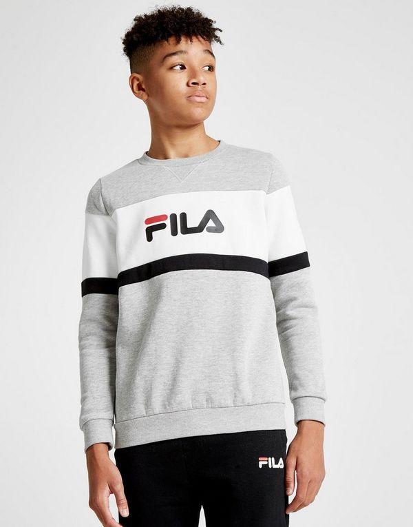 d0eeee4e9b7 Fila Alesso Colour Block Crew Sweatshirt Junior | JD Sports Ireland