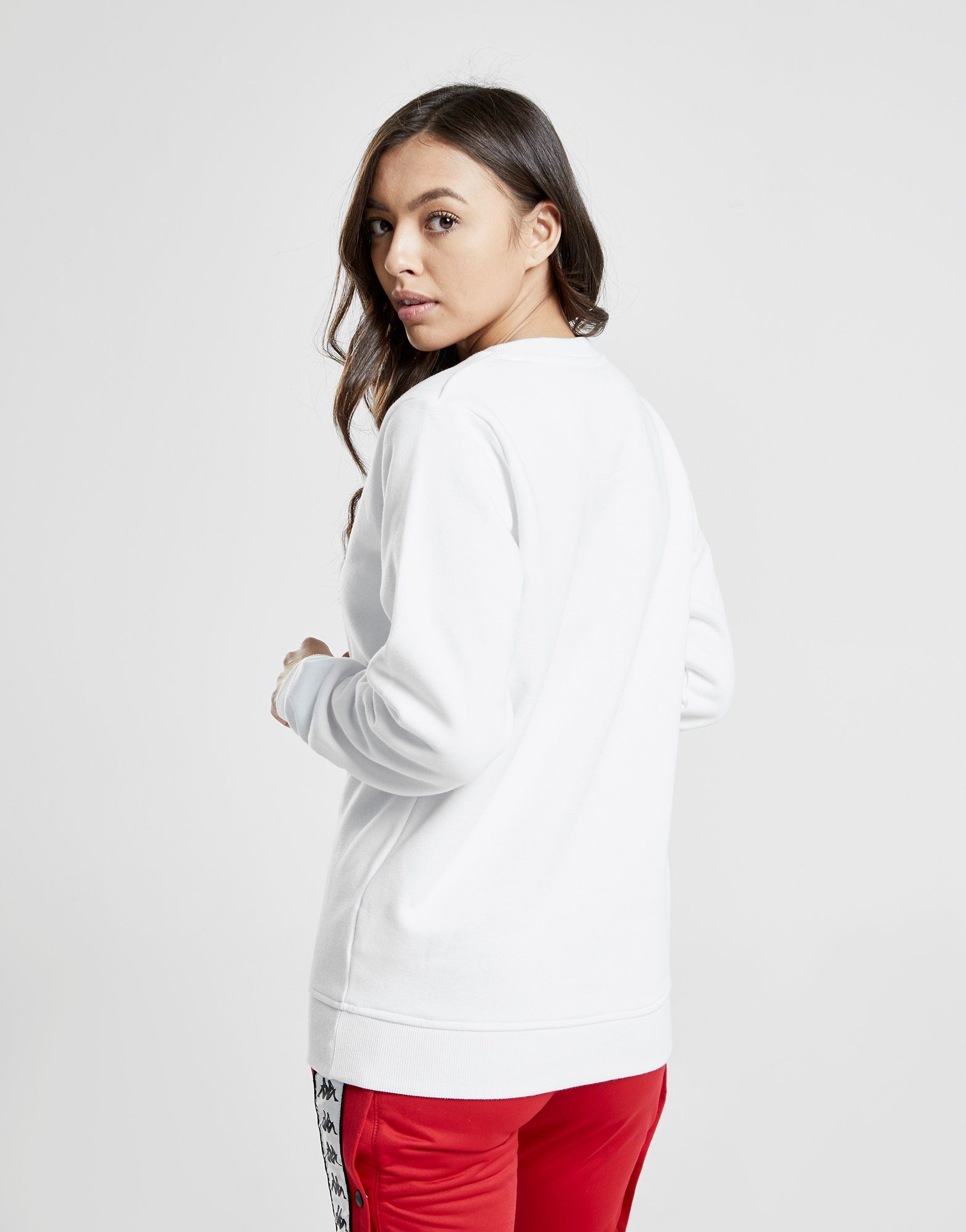 Kappa Logo Boyfriend Crew Sweatshirt