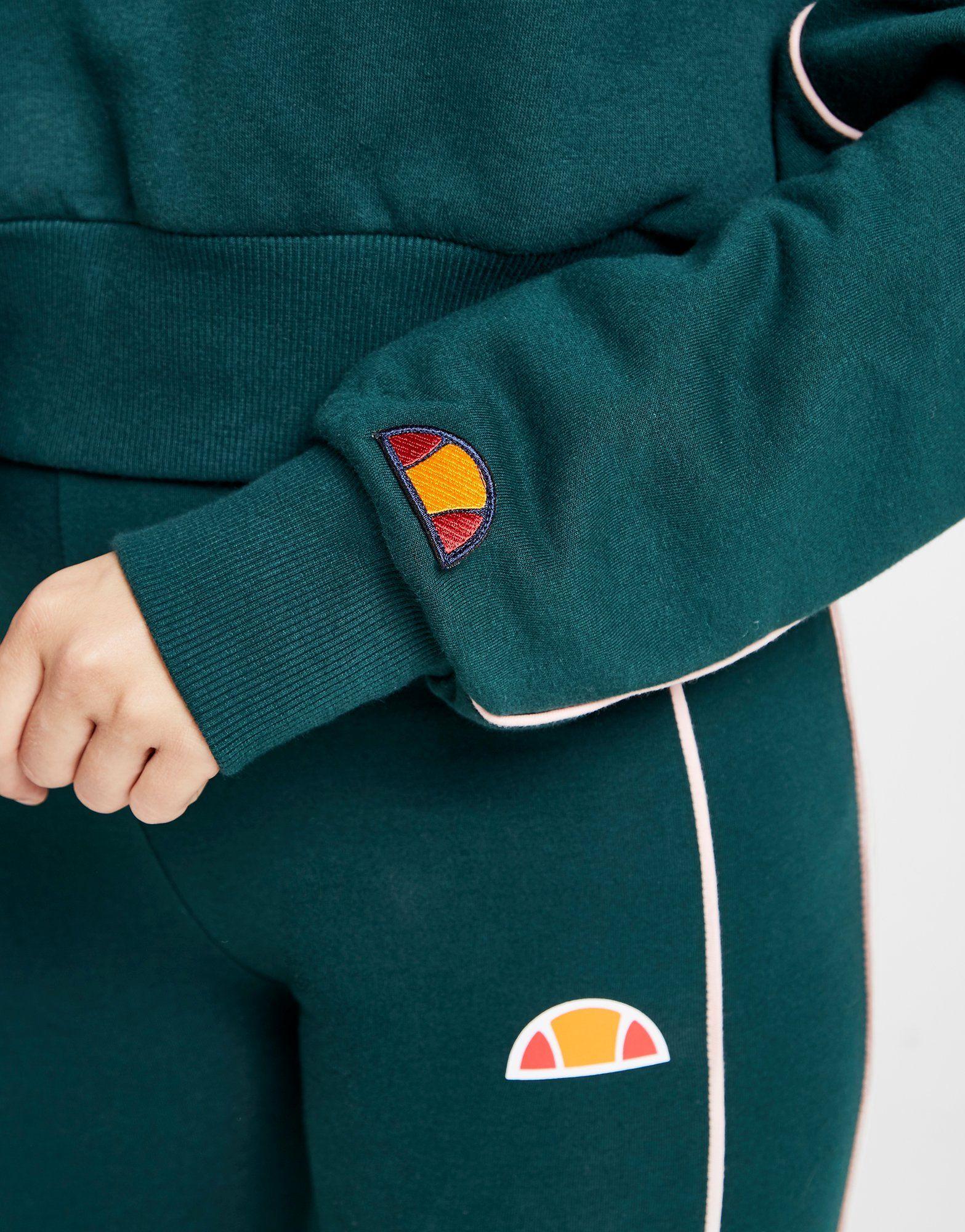 Ellesse Piping Crop 1/2 Zip Sweatshirt