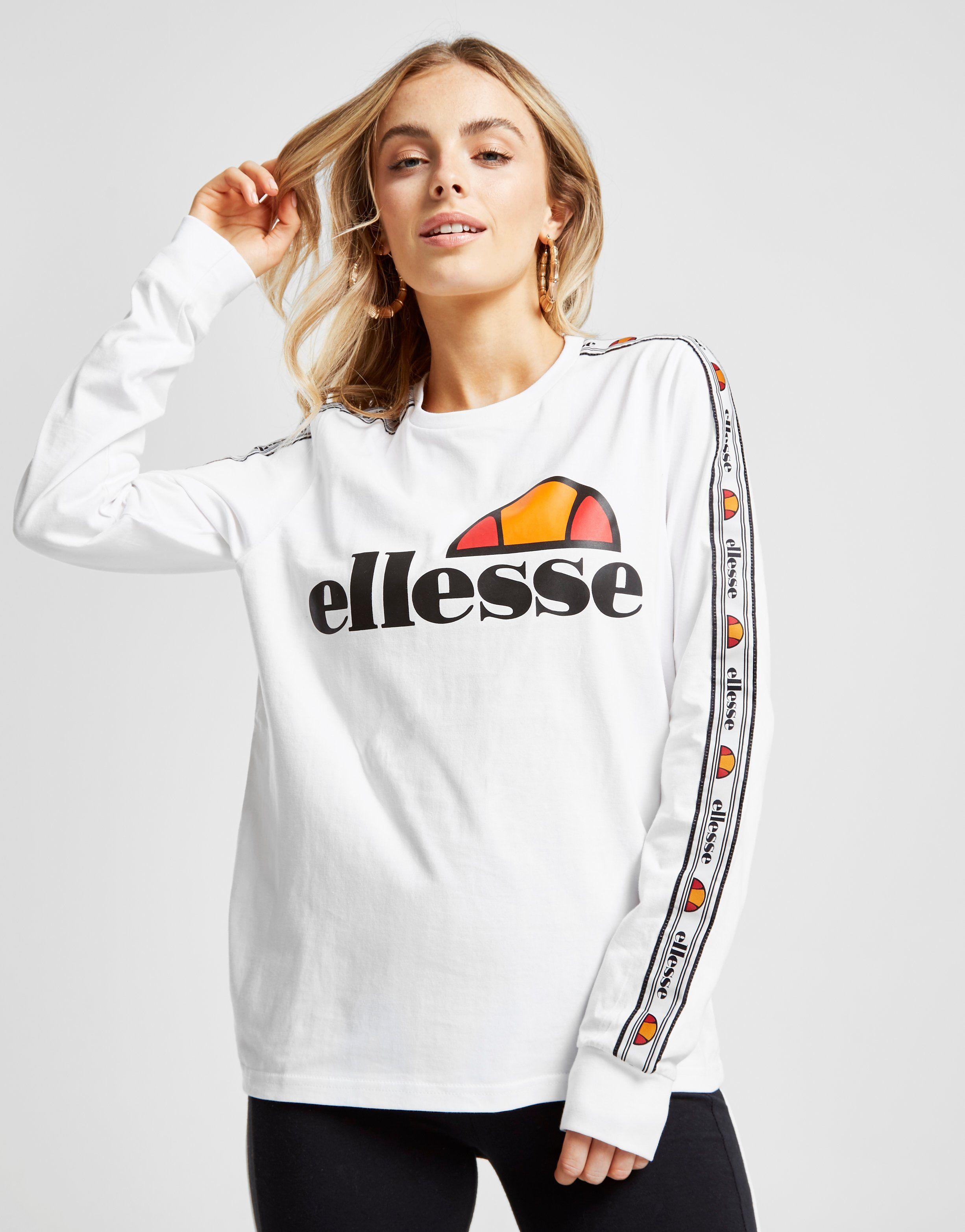 67eeb17760d Ellesse Tape Long Sleeve Boyfriend T-Shirt Dames | JD Sports