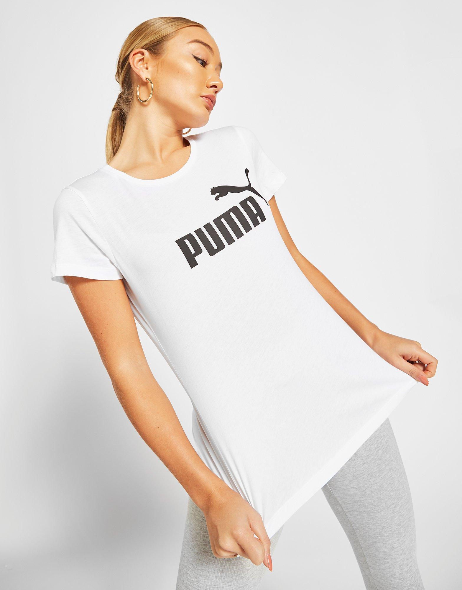 Detalles de Nuevo Puma para mujer Core Camiseta Blanco ver título original