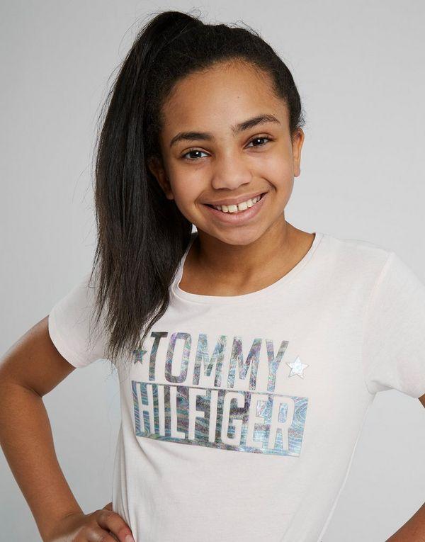 db75ff8d9 Tommy Hilfiger Girls' Foil Logo T-Shirt Junior | JD Sports Ireland